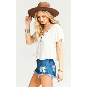 💕Show Me Your Mumu💕 Embroidered Cut Off Shorts